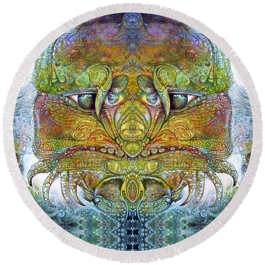 \bogomil Variations\ \otto Rapp\ \ Michael F Wolik\ Round Beach Towel featuring the digital art Bogomil Variation 11 by Otto Rapp