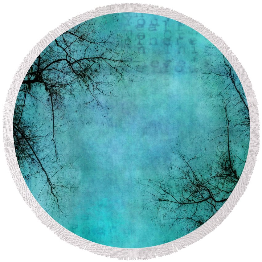 Branches Round Beach Towel featuring the photograph Branches by Priska Wettstein