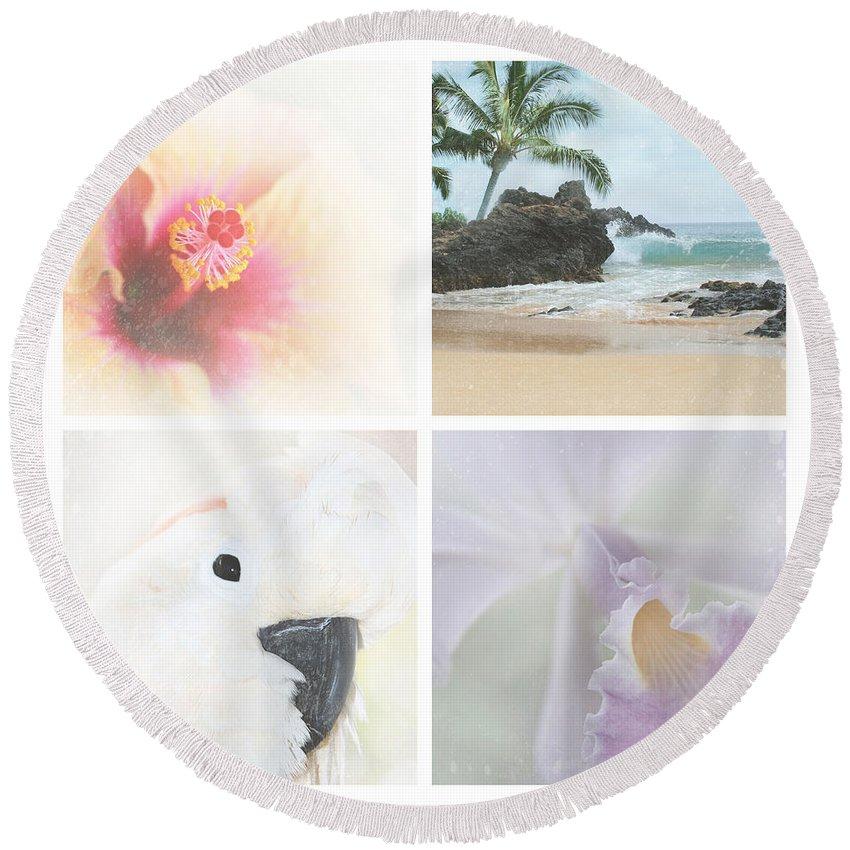 Aloha Round Beach Towel featuring the photograph Breathe . Feel The Wind . . . by Sharon Mau