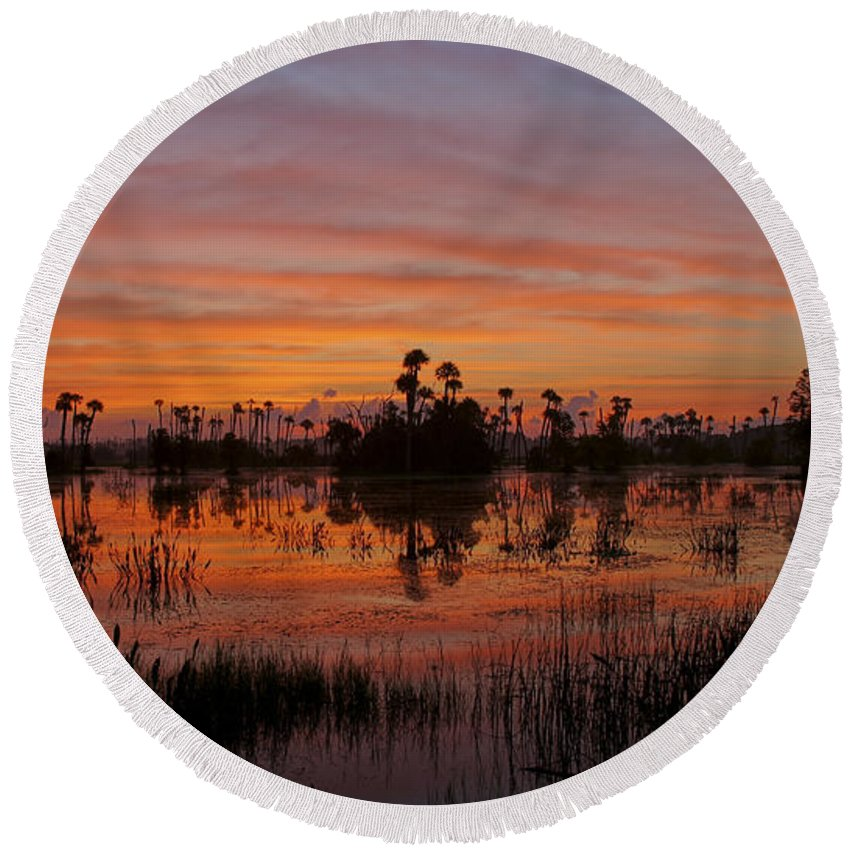 Orlando Round Beach Towel featuring the photograph Breathtaking Florida by Brian Kamprath