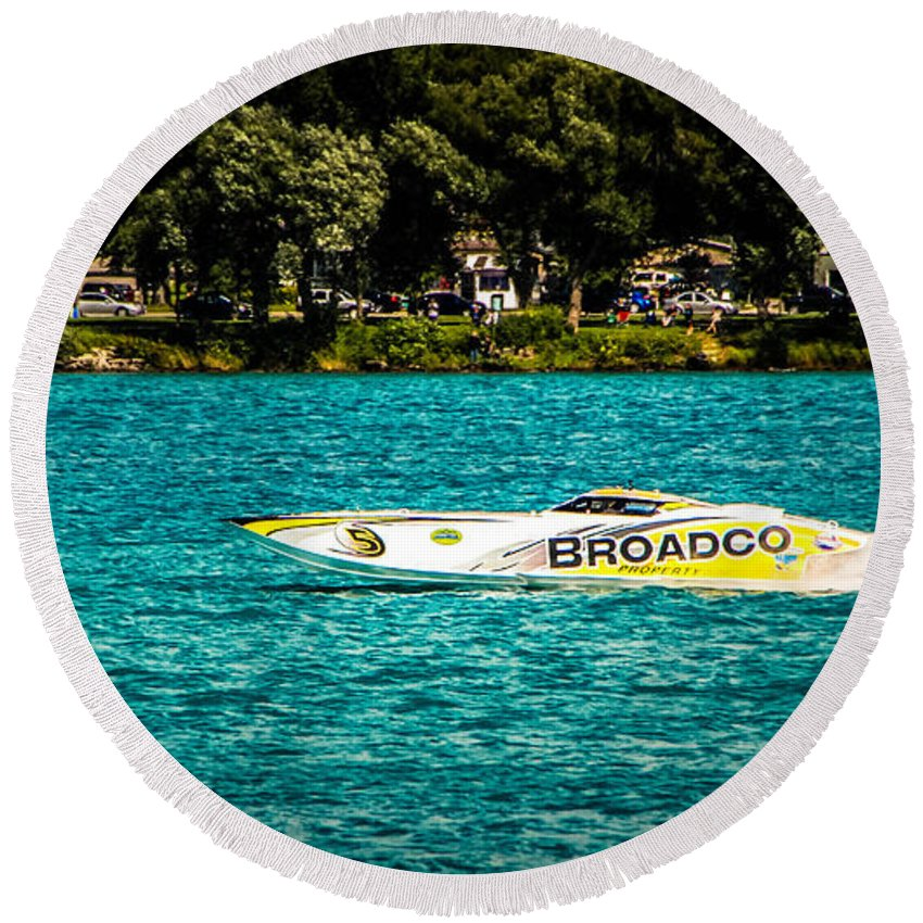 Broadco Property Round Beach Towel featuring the photograph Broadco Property by Grace Grogan