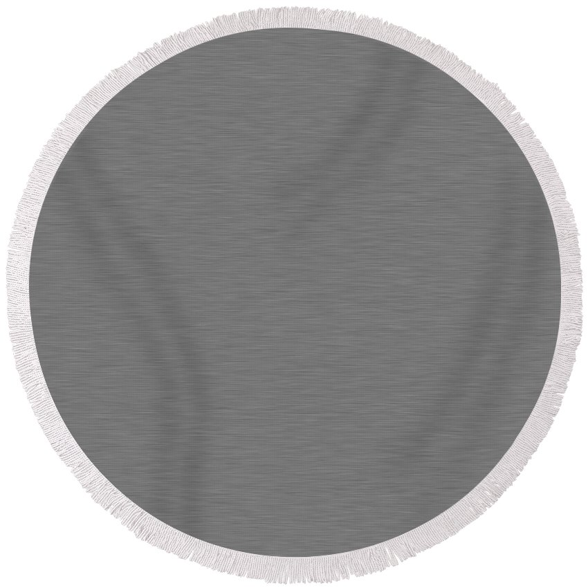 Abstract Round Beach Towel featuring the digital art Brushed Metal Left Right by Henrik Lehnerer