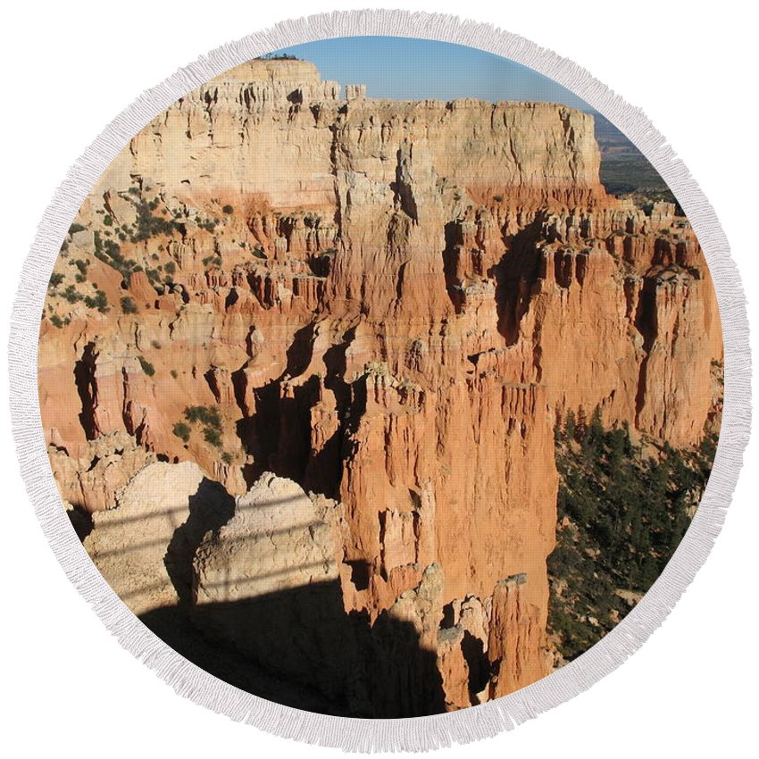 Rocks Round Beach Towel featuring the photograph Bryce Canyon Hoodoos by Christiane Schulze Art And Photography