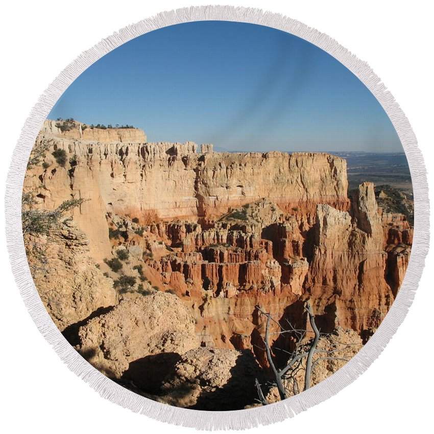 Rocks Round Beach Towel featuring the photograph Bryce Canyon Scenic View by Christiane Schulze Art And Photography