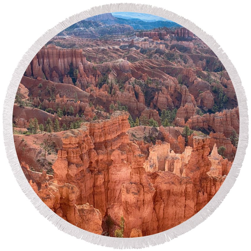 Bryce Canyon Round Beach Towel featuring the photograph Bryce Canyon Utah Views 63 by James BO Insogna