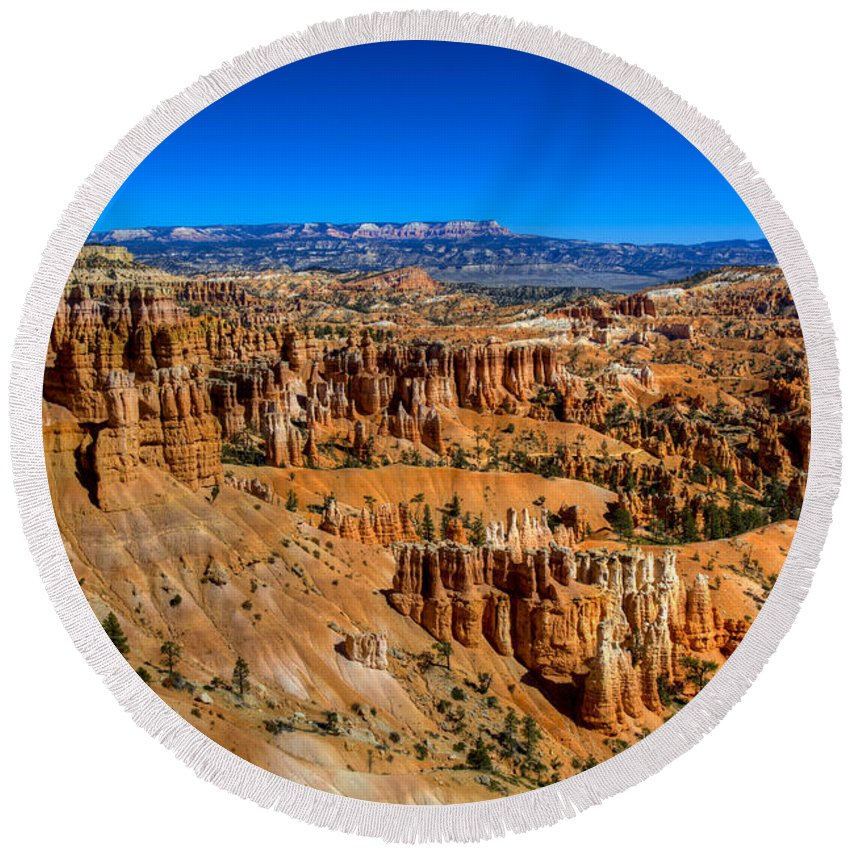 Bryce Canyon Round Beach Towel featuring the photograph Bryce's Glory by Chad Dutson