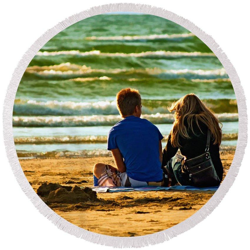 Love Round Beach Towel featuring the photograph Building Dreams by Steve Harrington