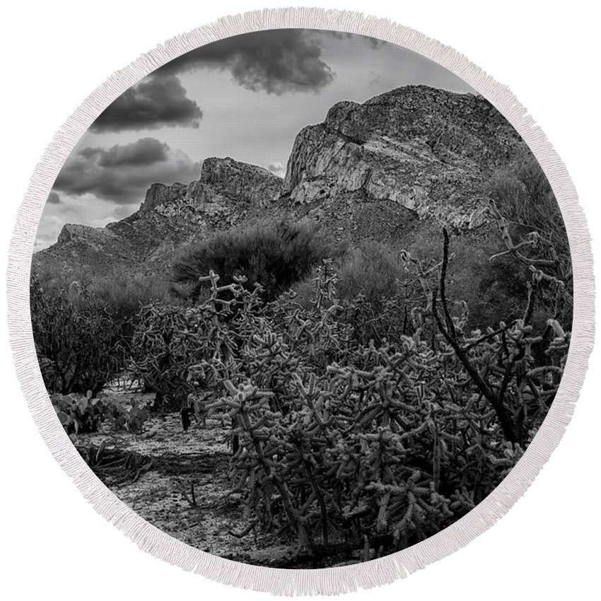 Mark Myhaver Round Beach Towel featuring the photograph Canyon Del Oro No.48 by Mark Myhaver