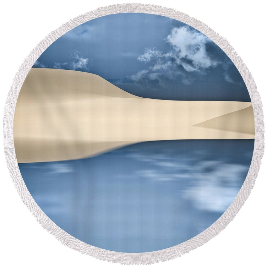 Cape Cod Round Beach Towel featuring the photograph Cape Cod Reflections by Bob Orsillo