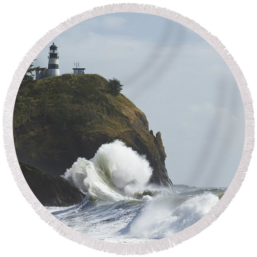Sea Round Beach Towel featuring the photograph Cape Disappointment 2 B by John Brueske