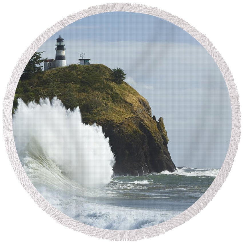 Sea Round Beach Towel featuring the photograph Cape Disappointment 3 A by John Brueske
