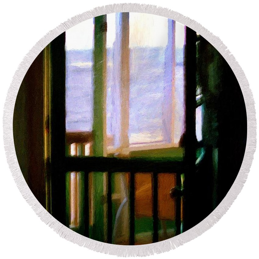 Beach Round Beach Towel featuring the painting Carolina Morning by RC DeWinter