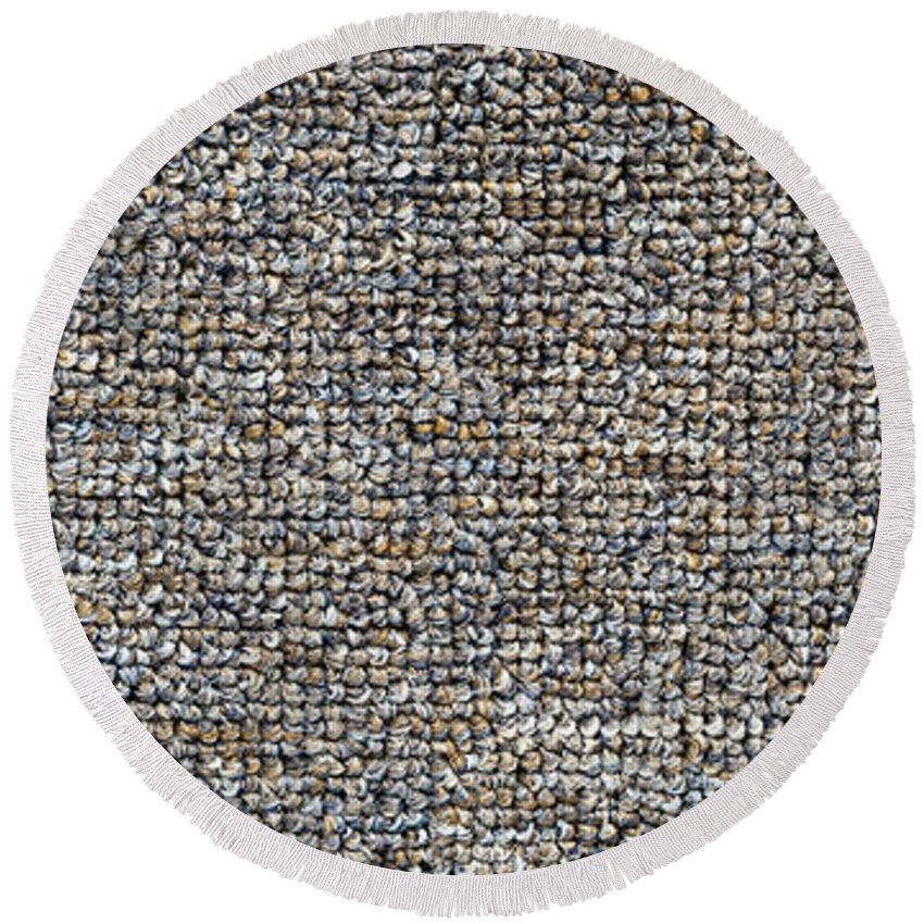 Background Round Beach Towel featuring the photograph Carpet Texture by Tim Hester