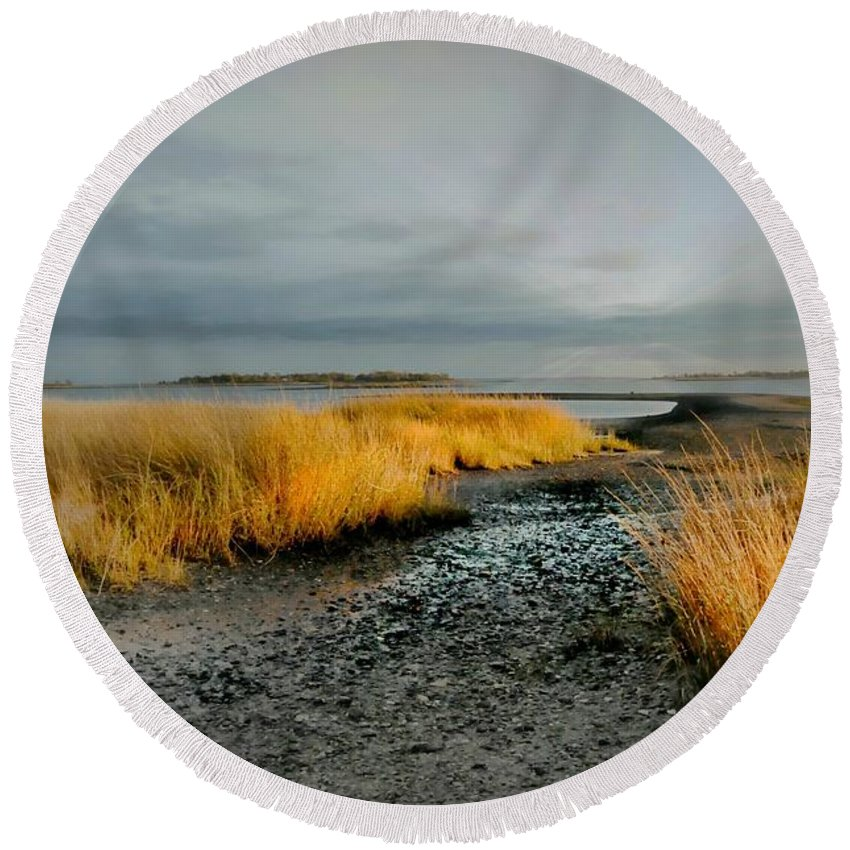 Landscape Round Beach Towel featuring the photograph Carry Me by Diana Angstadt