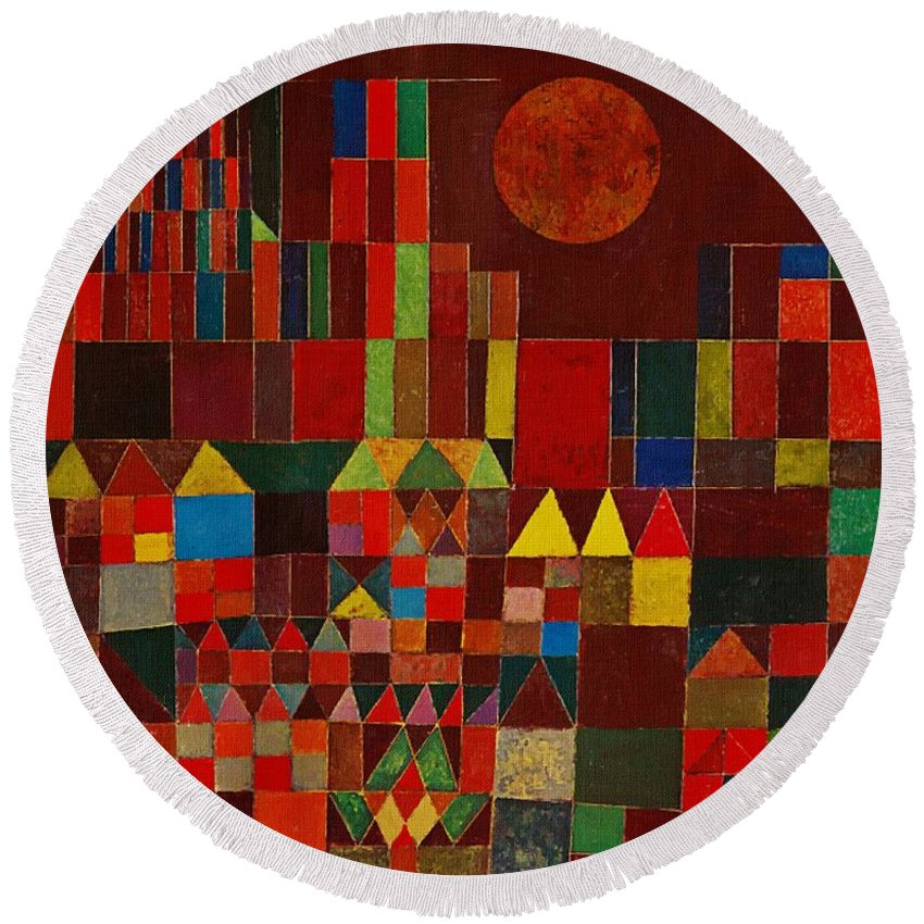 Castle And Sun Round Beach Towel For Sale By Paul Klee