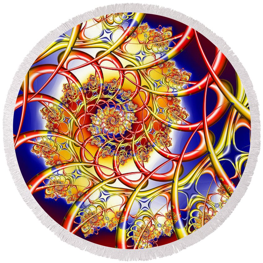 Cause Round Beach Towel featuring the digital art Cause by Kimberly Hansen
