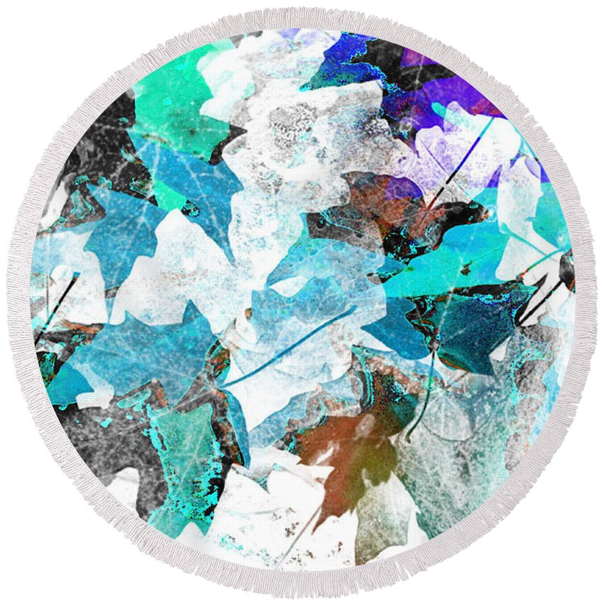 Digital Art Abstract Round Beach Towel featuring the digital art Change Is On The Way by Yael VanGruber