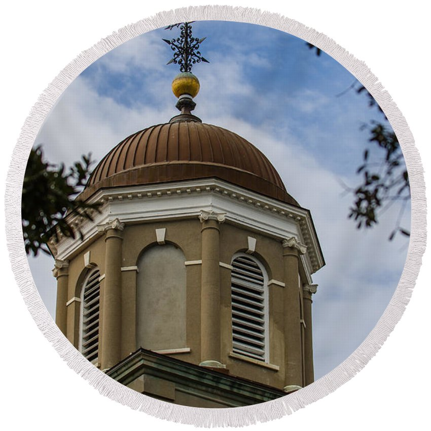 Charleston Round Beach Towel featuring the photograph Charleston Round Dome by Dale Powell