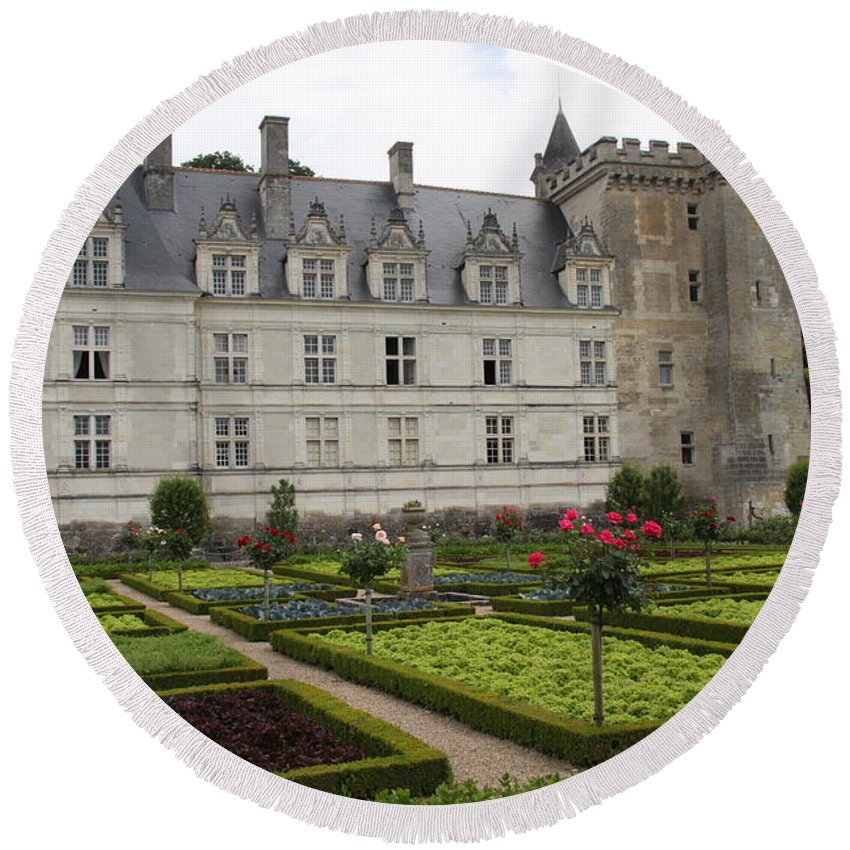 Salad Round Beach Towel featuring the photograph Chateau Villandry - Usefulness And Ornament by Christiane Schulze Art And Photography
