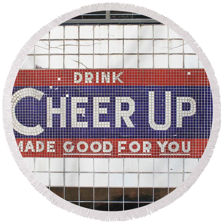 Cheer Up Round Beach Towel featuring the photograph Cheer Up by Jane Linders