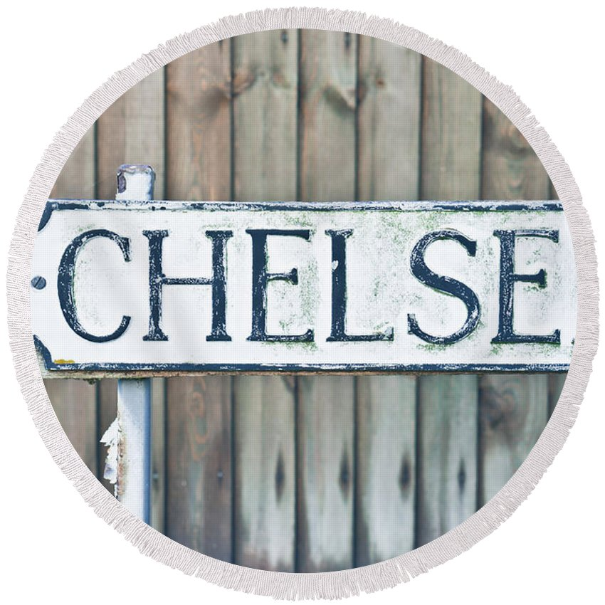 Address Round Beach Towel featuring the photograph Chelsea by Tom Gowanlock