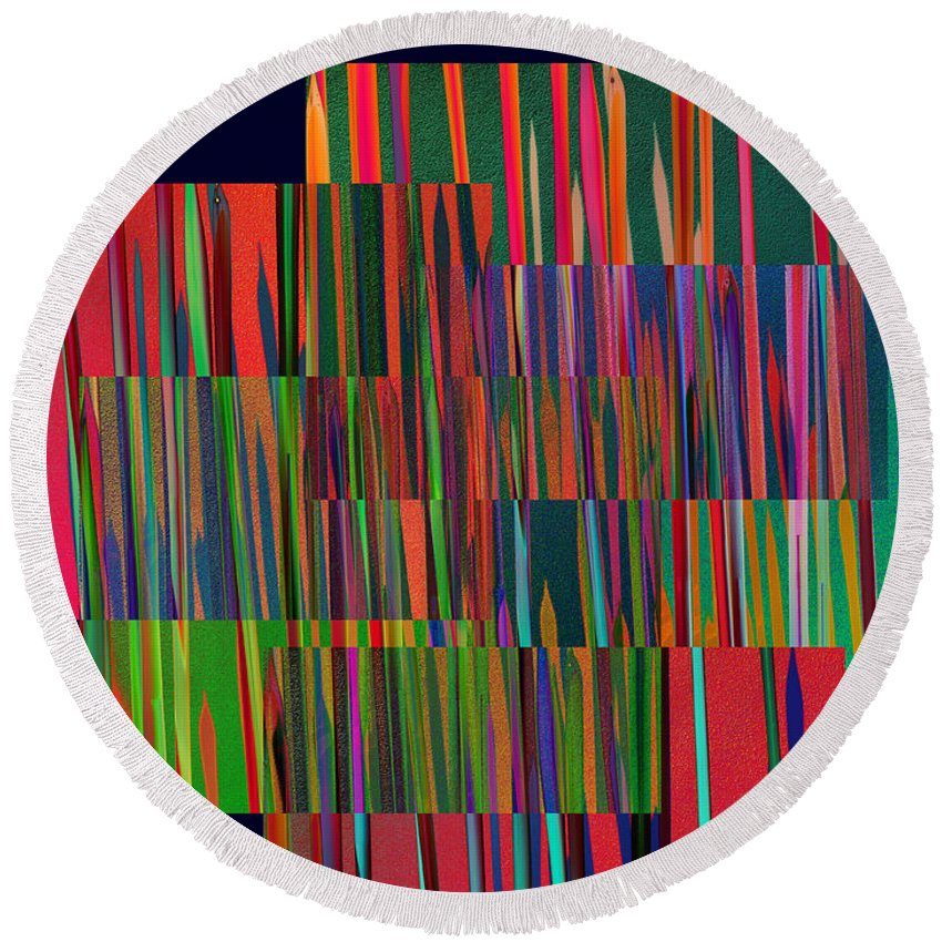 Abstract Round Beach Towel featuring the photograph The Glass Forest by David Pantuso