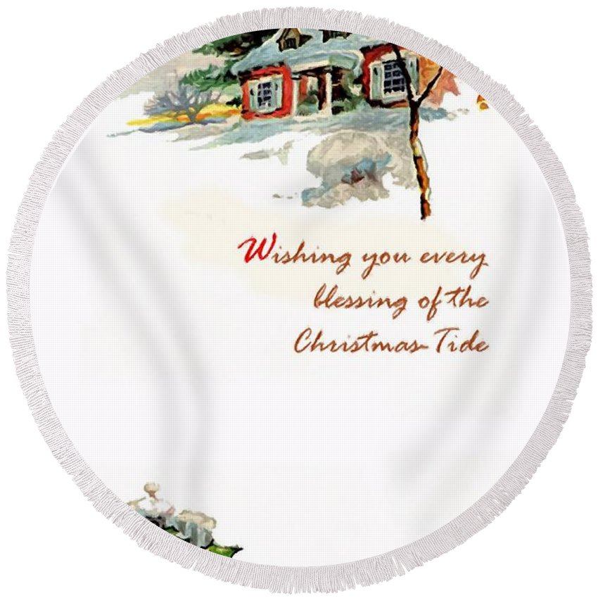 Christmas Tide Round Beach Towel featuring the photograph Christmas Tide by Munir Alawi