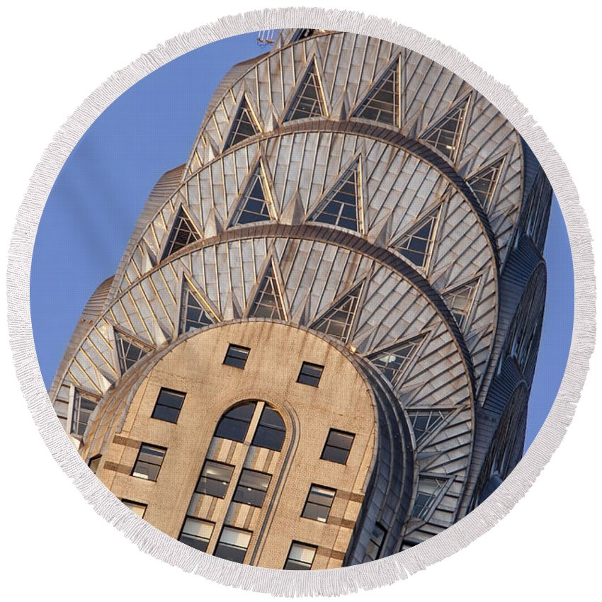 Chrysler Building Round Beach Towel featuring the photograph Chrysler Building by Brian Jannsen