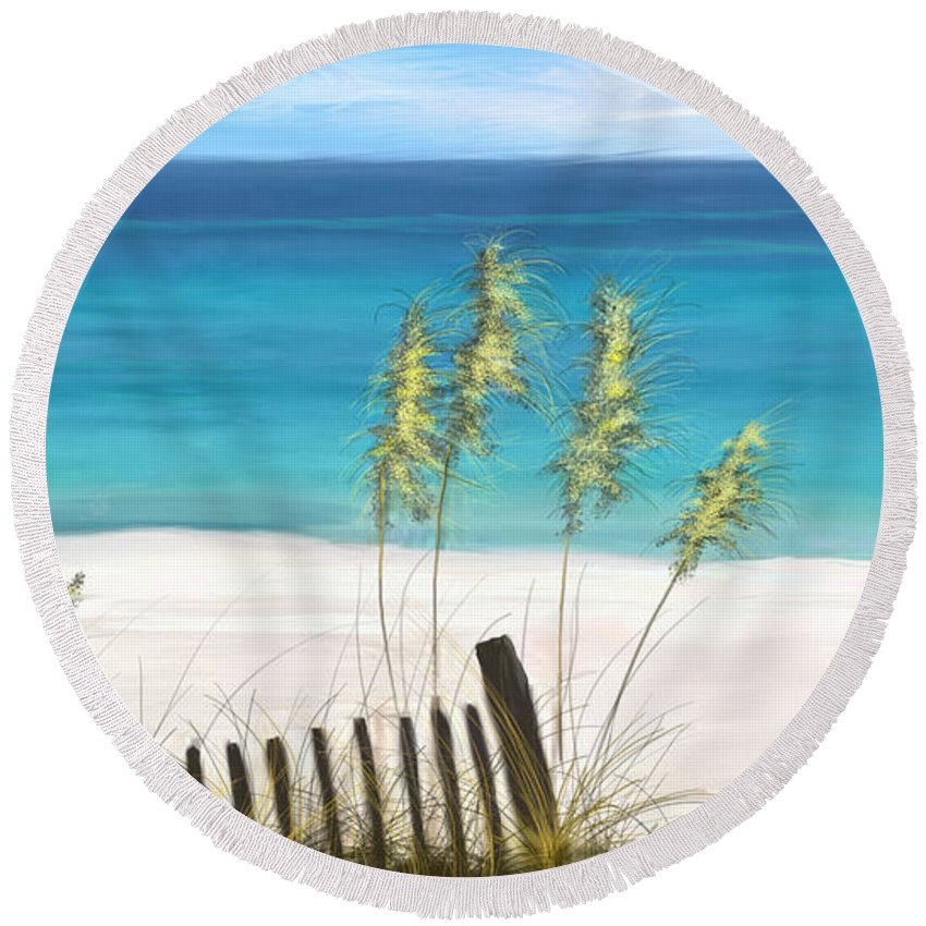 Beach Round Beach Towel featuring the digital art Clear Water Florida by Anthony Fishburne