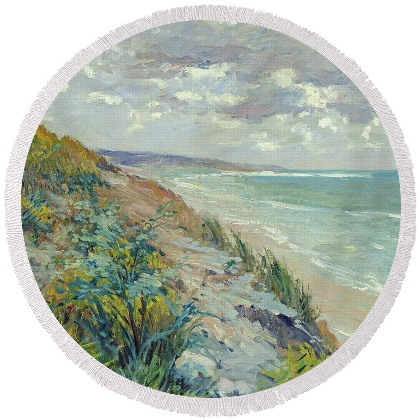 Coastal Landscape Round Beach Towels