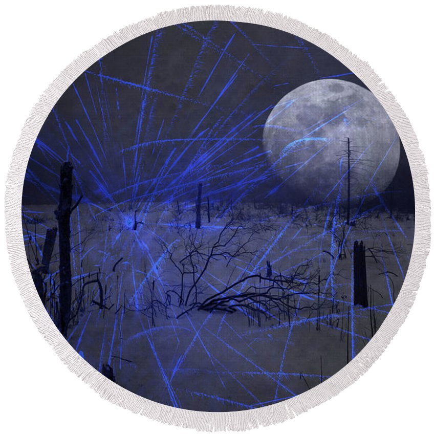 Moon Round Beach Towel featuring the photograph Close Encounter by John Stephens