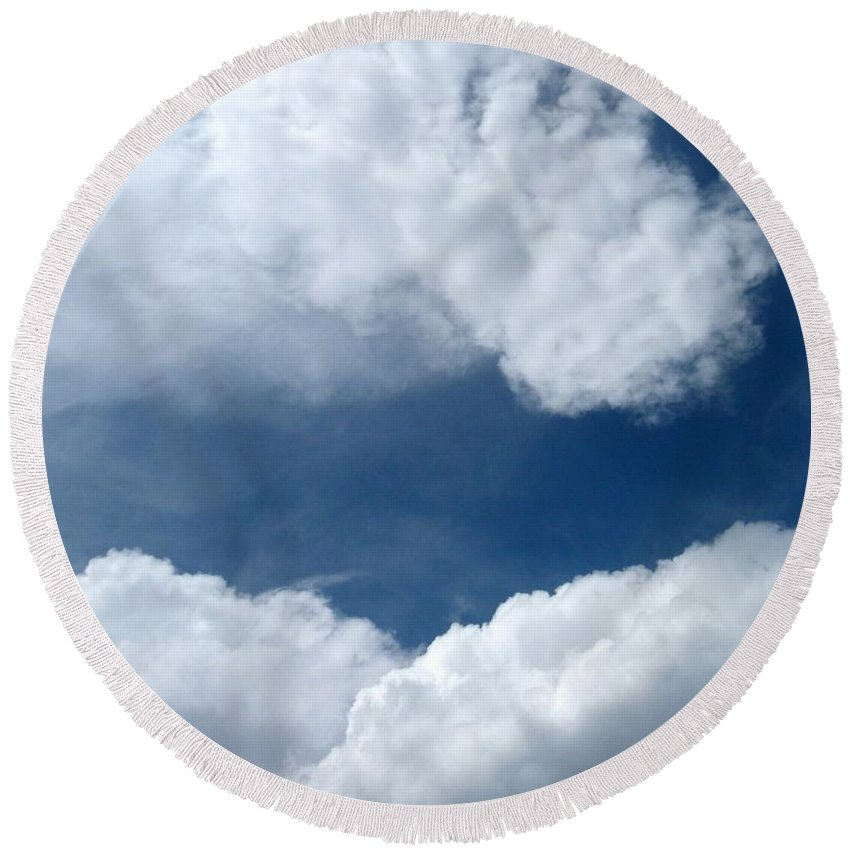 Cloud Nine 14 Round Beach Towel featuring the photograph Cloud Nine 14 by Will Borden