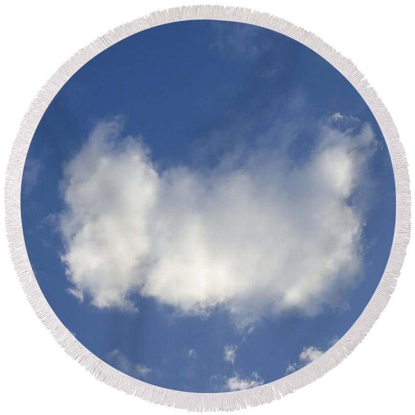 Clouds Round Beach Towel featuring the photograph Cloud Series 12 by Teri Schuster