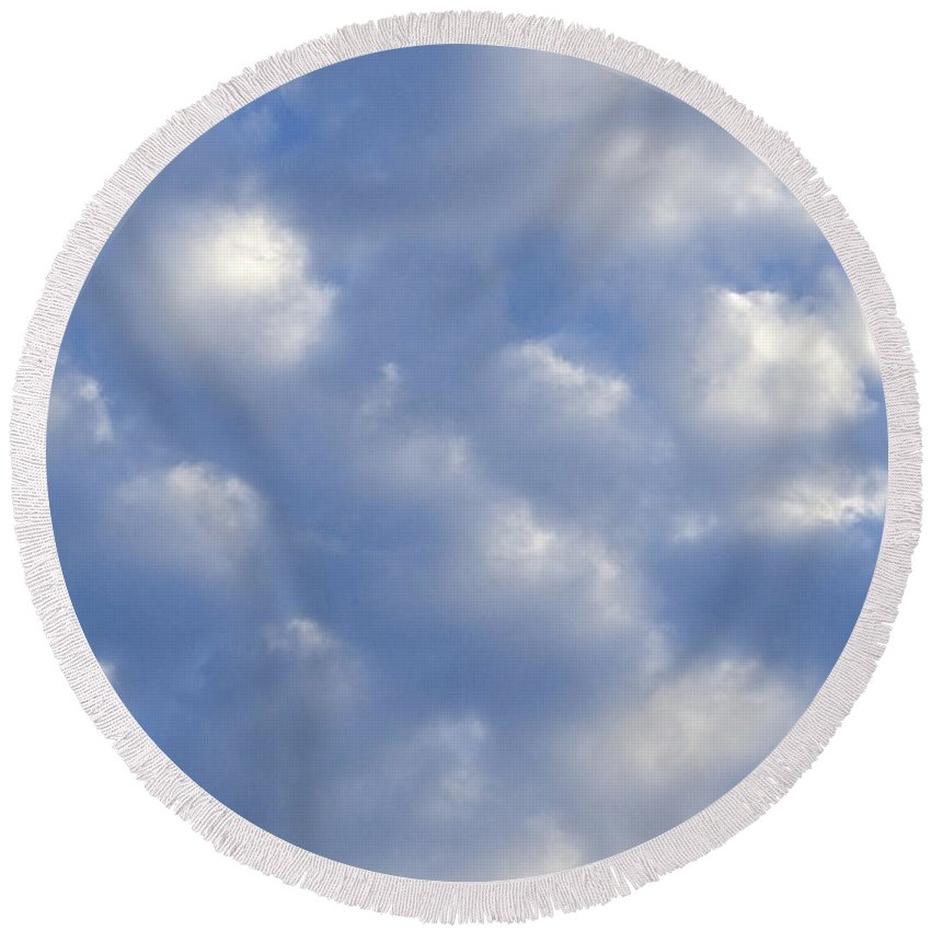 Clouds Round Beach Towel featuring the photograph Cloud Series 15 by Teri Schuster