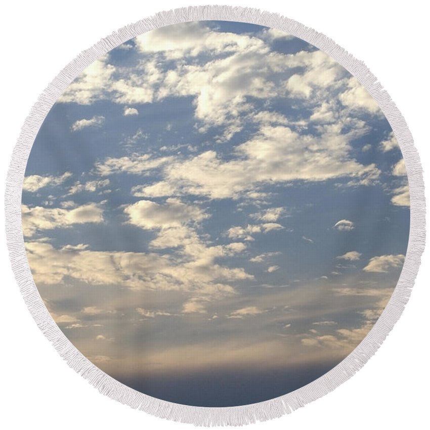 Clouds Round Beach Towel featuring the photograph Cloud Series 2 by Teri Schuster