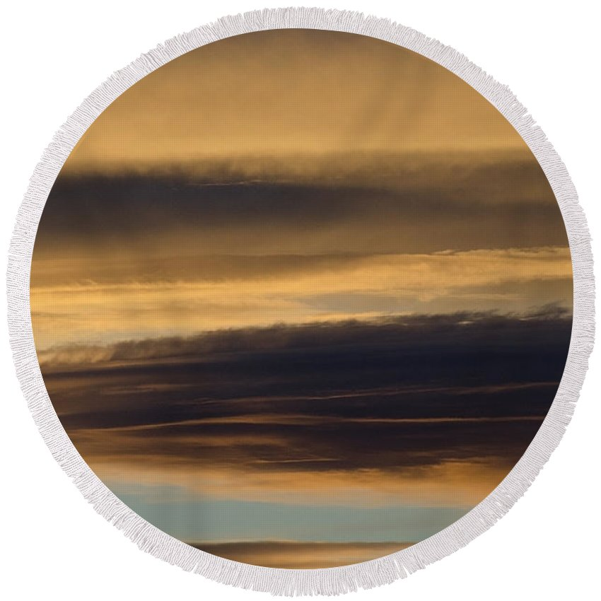 Clouds Round Beach Towel featuring the photograph Cloud Series 32 by Teri Schuster