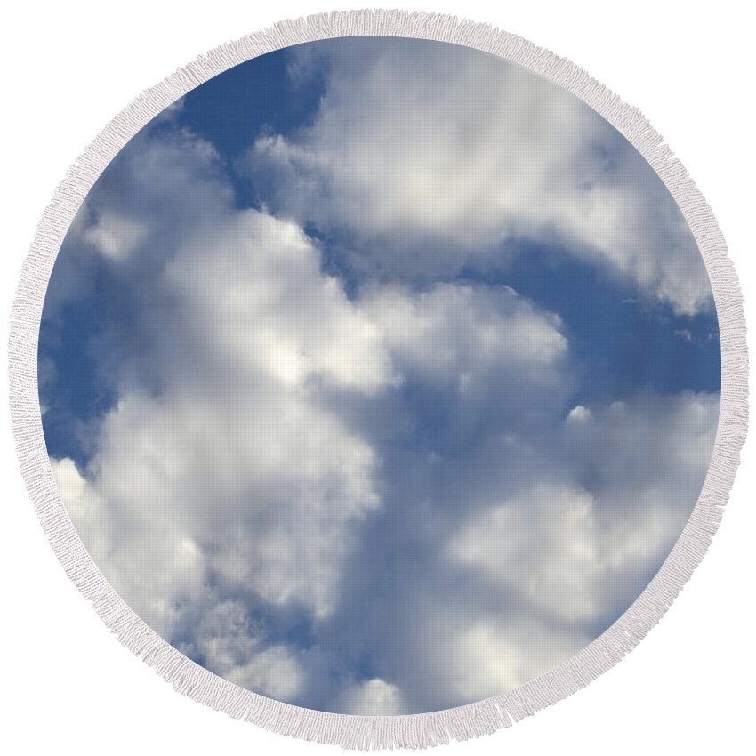 Clouds Round Beach Towel featuring the photograph Cloud Series 4 by Teri Schuster