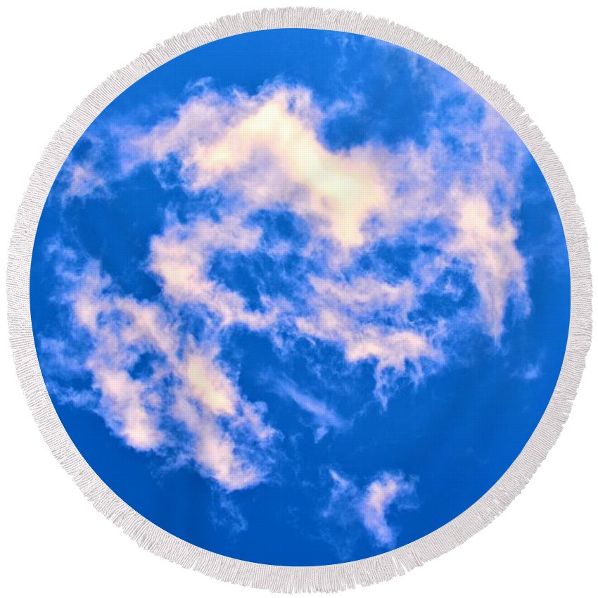 Clouds Round Beach Towel featuring the photograph Clouds 11 by Tara Potts