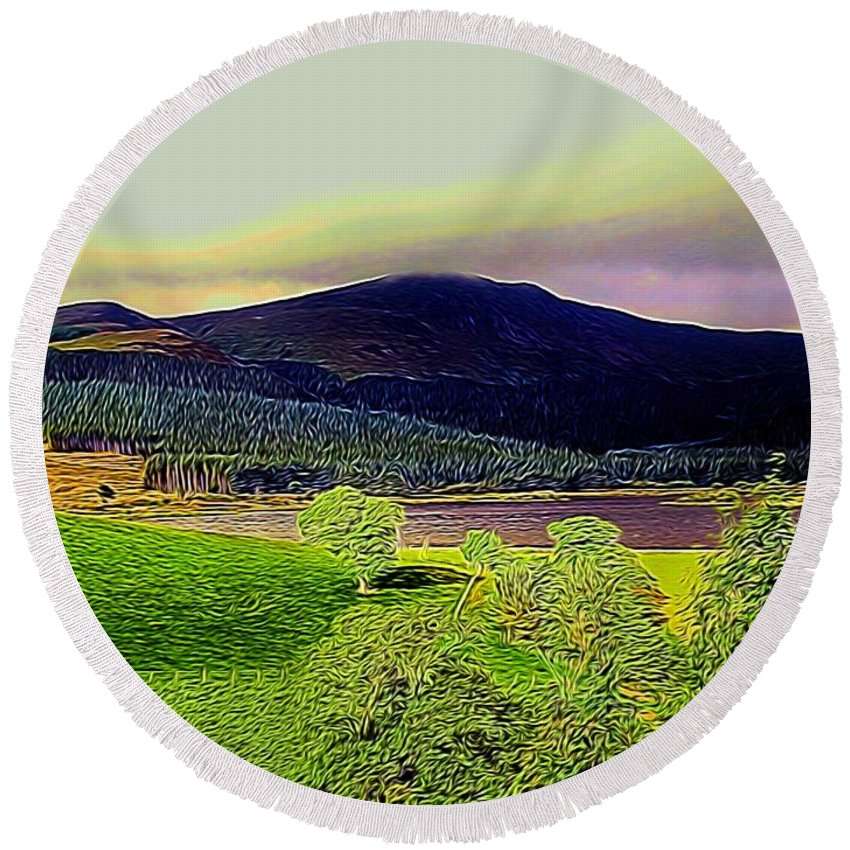 Hill Round Beach Towel featuring the photograph Cogra Moss by Ron Harpham