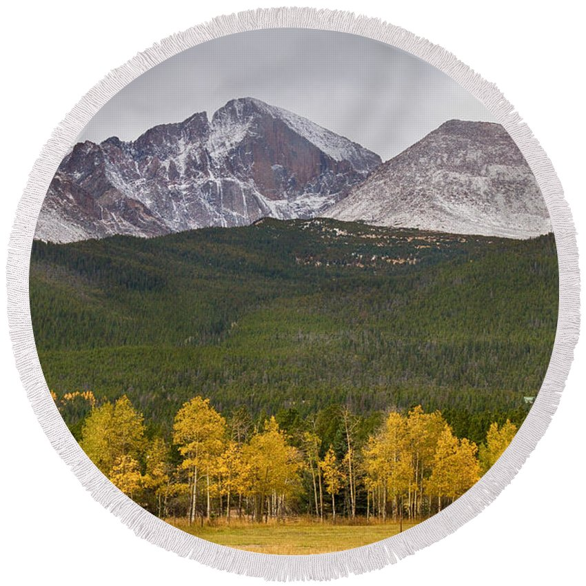 Colorado Round Beach Towel featuring the photograph Colorado's Playground by James BO Insogna