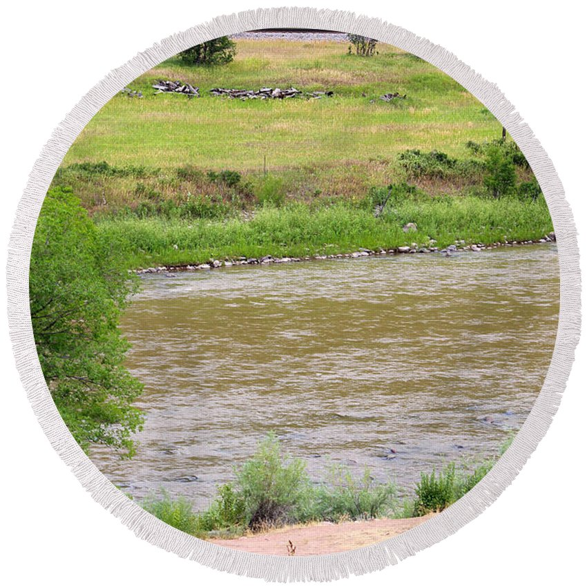 Colorado Round Beach Towel featuring the photograph Colorado Country by Becca Buecher