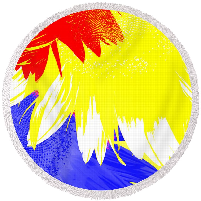 Digital Round Beach Towel featuring the digital art Colors Within by Edmund Nagele