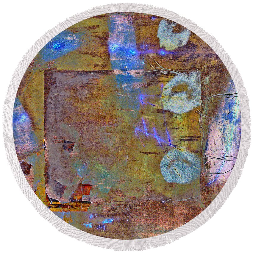 Coming Through Round Beach Towel featuring the mixed media Coming Through by Dominic Piperata