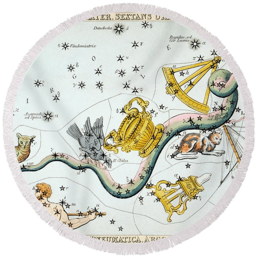 1825 Round Beach Towel featuring the photograph Constellation: Hydra by Granger