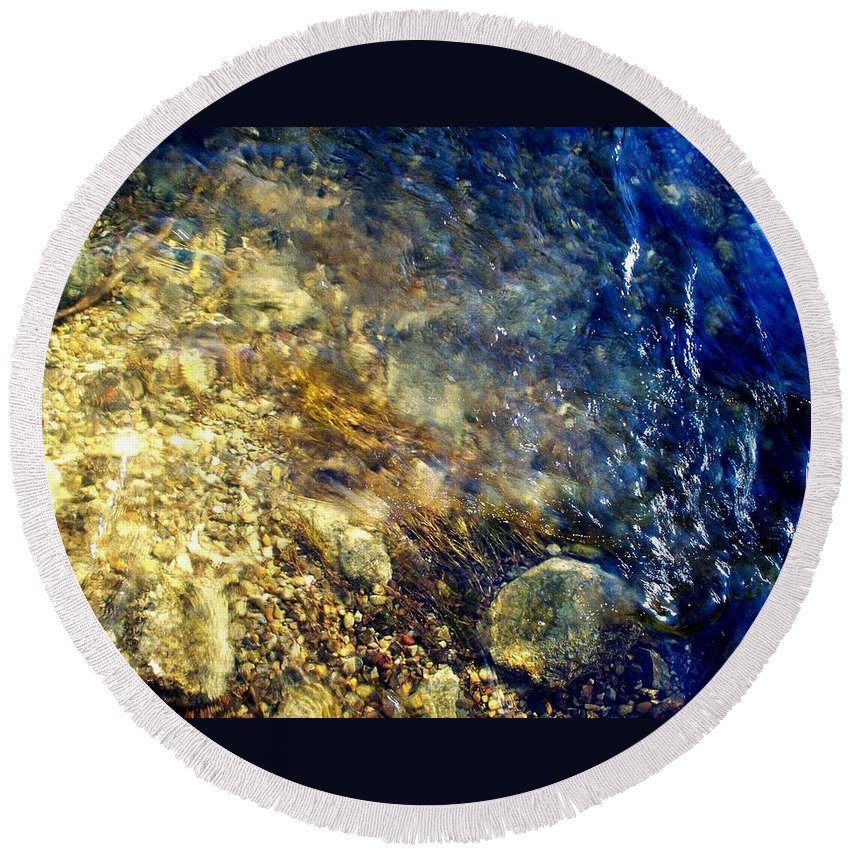 Rifle River Round Beach Towel featuring the photograph Cool Waters...of The Rifle River by Daniel Thompson
