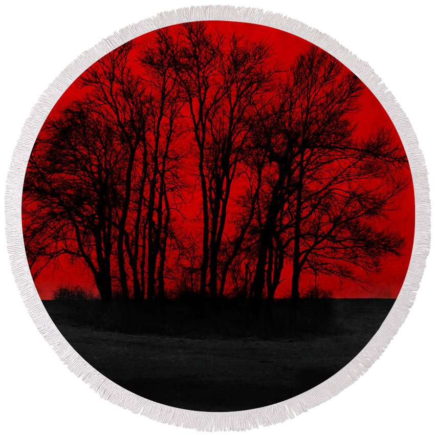 Red Round Beach Towel featuring the photograph Core by Luke Moore