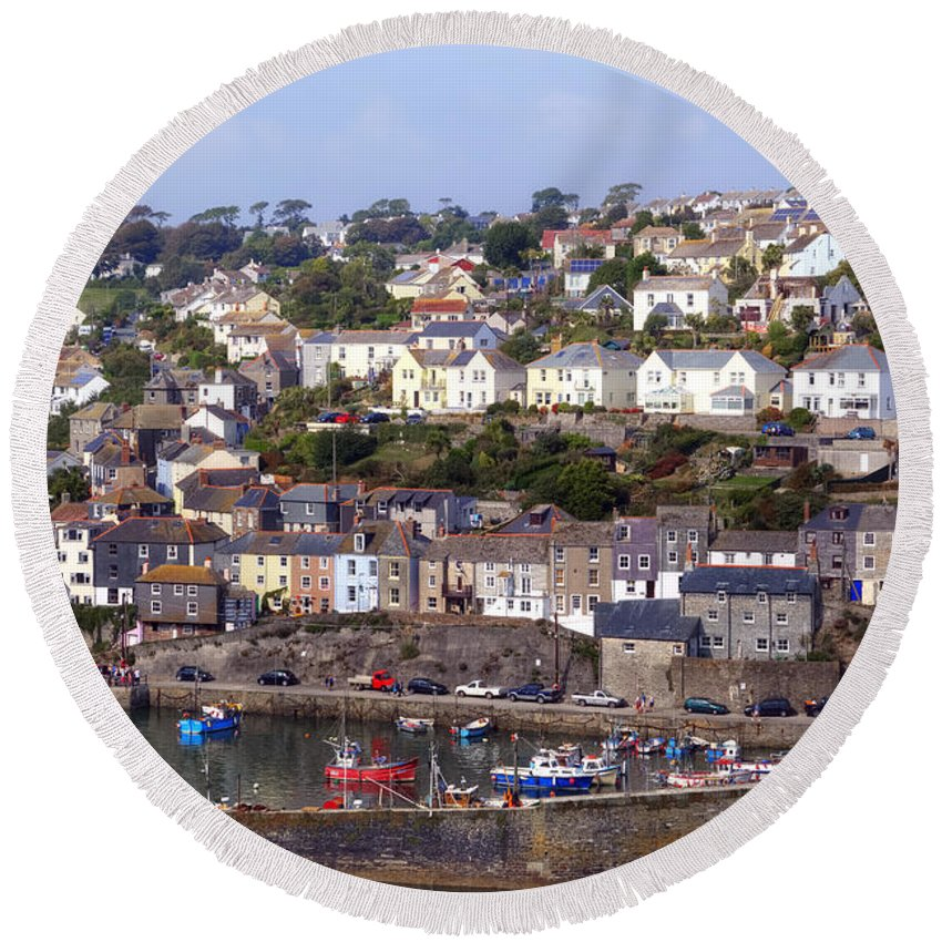 Mevagissey Round Beach Towel featuring the photograph Cornwall - Mevagissey by Joana Kruse