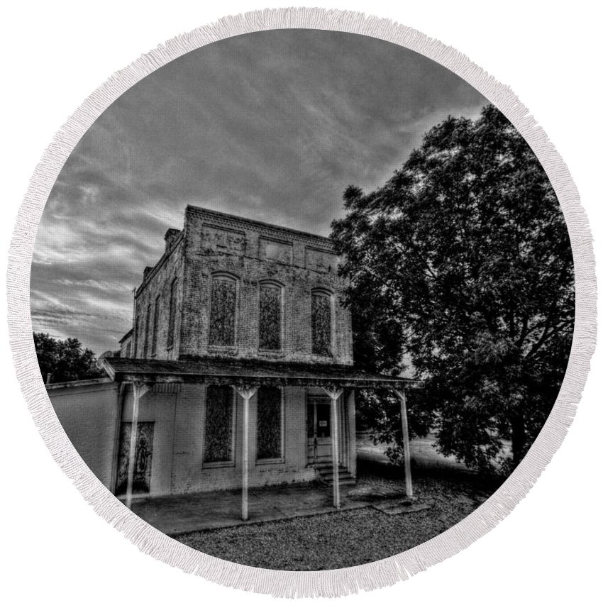 Cotton Round Beach Towel featuring the photograph Cotton Office by David Zarecor