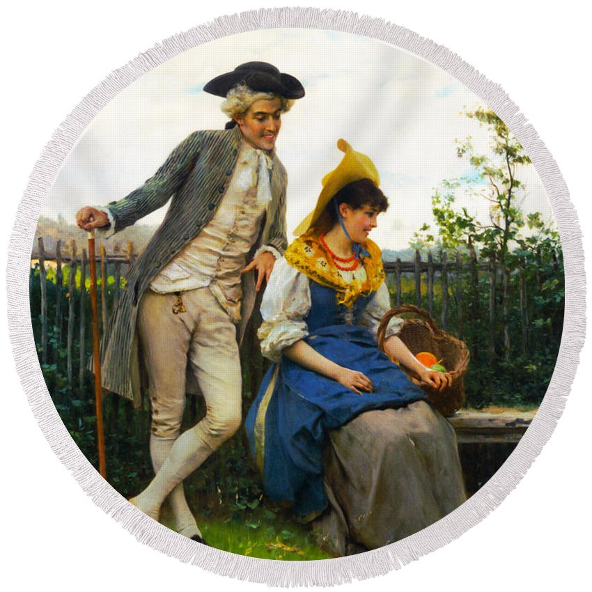 Courtship Round Beach Towel featuring the photograph Courtship by Federico Andreotti