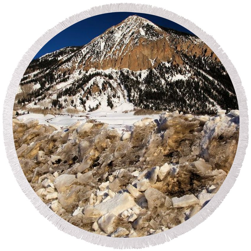 Crested Butte Round Beach Towel featuring the photograph Crested Butte by Adam Jewell